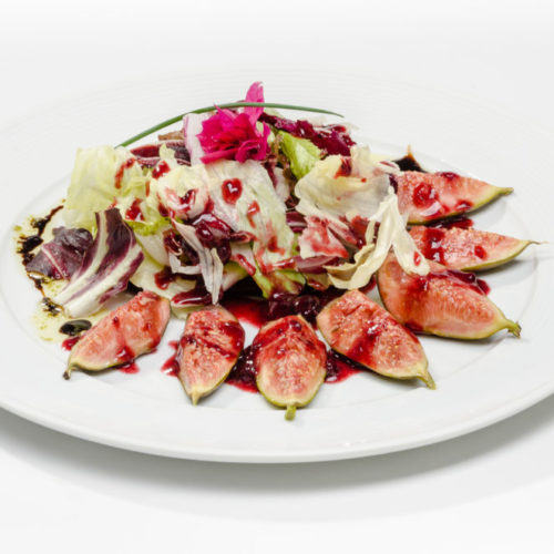 Salada com Figos Grelhados
